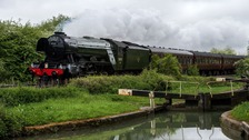 Flying Scotsman in Wiltshire