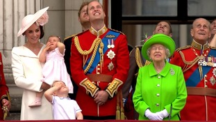 Princess Charlotte cried as the jets flew past while George strained to see them