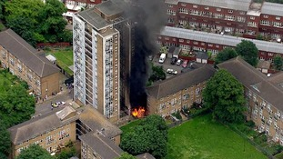 10 fire engines and 72 firefighters battle blaze at Brixton block of flats