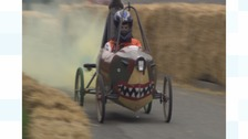 Daredevil racers take on the downhill course in Lincs village