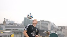 Dan Magness broke the Guinness World Record for consecutive football touches, completing 1070 using only his shoulders.