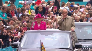 The Queen and the Duke of Edinburgh.