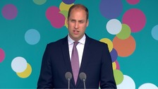 Prince William address crowds at The Mall.
