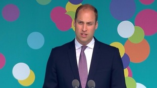 Prince William address crowds at The Mall