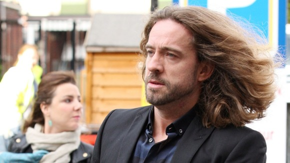 Justin Lee Collins, arrives at St Albans Crown Court 