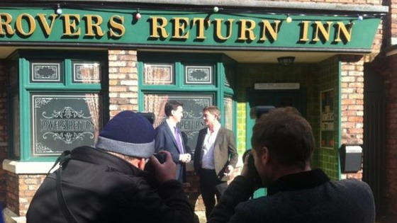 Ed Miliband on Coronation Street