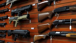 Around 40% of guns change hands in the US without a background check.