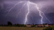 Spectacular lightning over Biggleswade