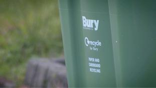 Bury recycling bin