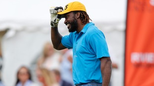 Chris Gayle hits half-century for charity