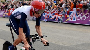Bradley Wiggins during the Men's Individual Time Trial