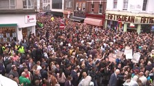 Thousands of people gathered in Old Compton Street for a vigil