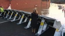 Flood wall.