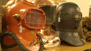 Diving helmets expected to fetch half a million pounds at auction