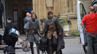 Gloucester Cathedral plays host to actors filming 'White Queen' sequel