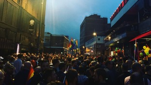 Crowds gather in Birmingham for Orlando victims