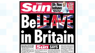 The Sun backs Leave vote in EU referendum