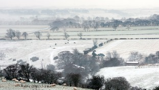 A snowy image of Consett