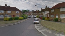 Human remains were found at a property in Fryent Crescent