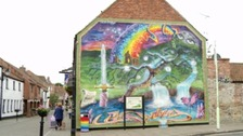 "The popular mural has been deemed ""too colourful"" for the listed building"
