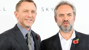 Daniel Craig, the latest James Bond, with director Sam Mendes