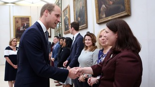 The Duke of Cambridge met US Embassy staff after signing a book of condolence for the Orlando victims.