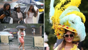 Ladies brave the soggy weather at this year's Royal Ascot