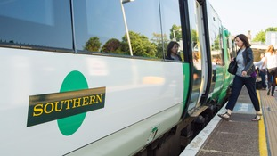 Commuters are protesting over weeks of disruption on the Southern Railway route from Brighton to London