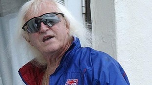Sir Jimmy Savile pictured at his Scarborough home in 2004