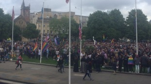 thousand people have now gathered in solidarity with the #Orlando victims