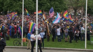 More than 500 people gathering in Bristol for the Orlando shooting commemorations.