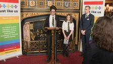 School pupils address parliament over diversity.