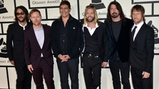 The Foo Fighters at this year's Grammy Awards.