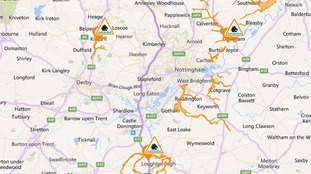 Live flood alert map from the Environment Agency.