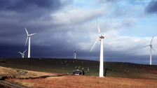 Wind farm in North Wales