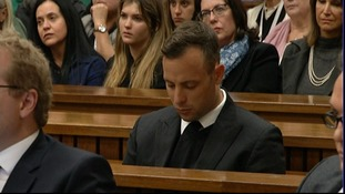 Oscar Pistorius listens to the closing remarks in the trial