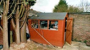 Warning to lock sheds.