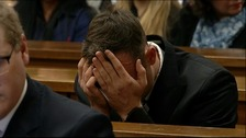 Oscar Pistorius at his sentencing trial