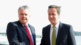 David Cameron and Carwyn Jones campaign together on EU
