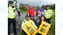 The campaign aims to raise awareness of dangers on rural roads