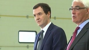 George Osborne appeared alongside former Labour Chancellor Alistair Darling.