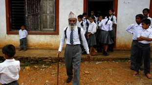 The Nepalese man who is going back to school to finish his studies - at 68