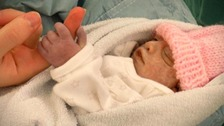 Baby Hope died barely an hour after she was born.