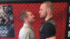Boxer Paddy Barnes squares up to MMA fighter Conor McGregor.