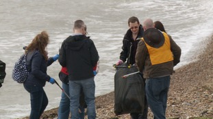 Around '50 wipes' are found for every kilometre of coastline