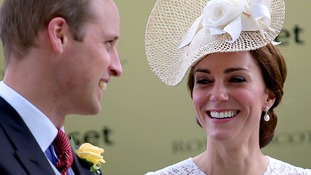 William and Kate brave the weather to make their debut at Royal Ascot