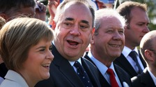 (L-R) Nicola Sturgeon, Alex Salmond and Jim Sillars