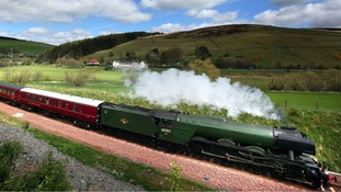 Flying Scotsman steams into Wales on UK tour