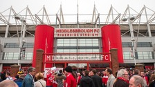 Fans outside Middlesbrough's Riverside Stadium