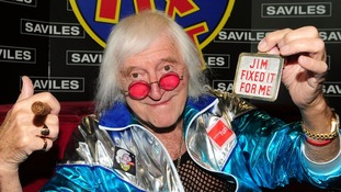 Sir Jimmy Saville in his iconic 'Jim'll Fix It' chair